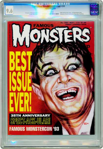 CGC Graded Comics - Famous Monsters of Filmland #200 (CGC) - Best Issue Ever - Famous - Spect-ack-ular - Famous Monstercon 93 - 35fth Aniversary