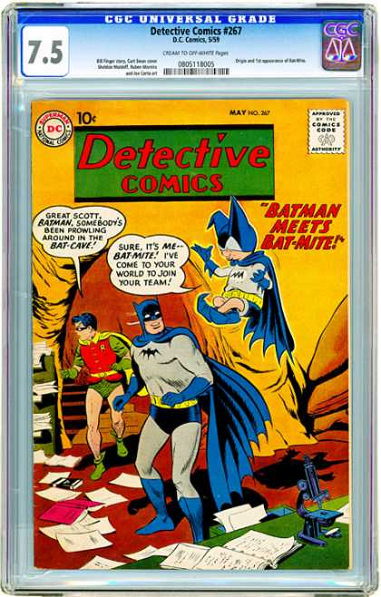 CGC Graded Comics - Detective Comics #267 (CGC) - Approved By The Comics Code - Superman National Comics - Batman - Robin - Mat-mine