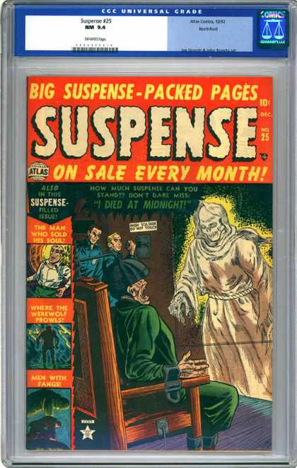 CGC Graded Comics - Suspense #25 (CGC) - Atlas Comics - On Sale - Every Month - Ghost - I Died At Midnight