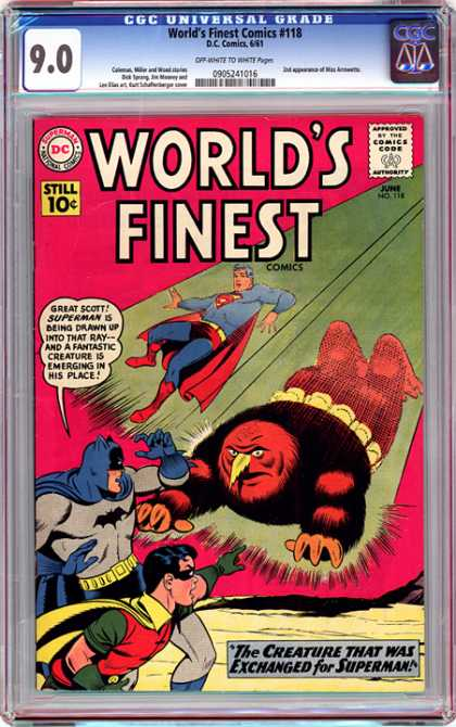 CGC Graded Comics - World's Finest Comics #118 (CGC)