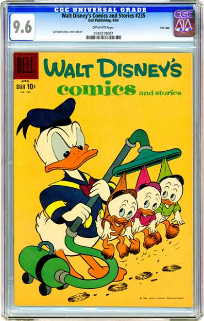 CGC Graded Comics - Walt Disney's Comics and Stories #235 (CGC) - Walt Disney - Disney - Comics - Dell - 235