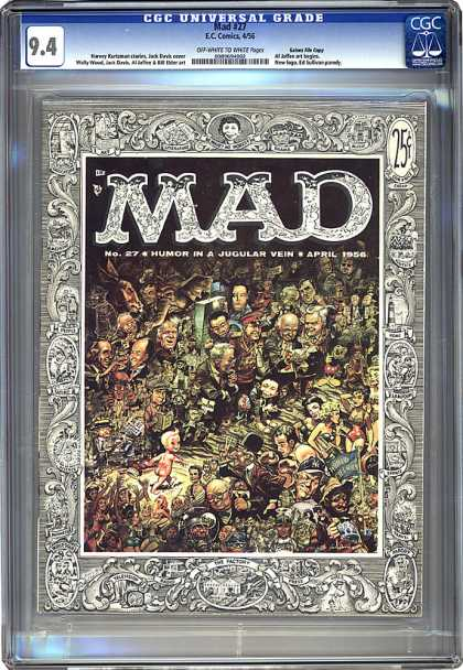 CGC Graded Comics - Mad #27 (CGC) - Crowd - Frame - Men - Women - Alfred E Neumann