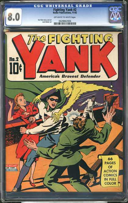 CGC Graded Comics - Fighting Yank #2 (CGC)