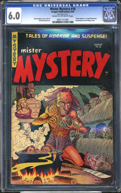 CGC Graded Comics - Mister Mystery #18 (CGC) - Mister Mystery - Aragon Publication - Man - Woman - Pot