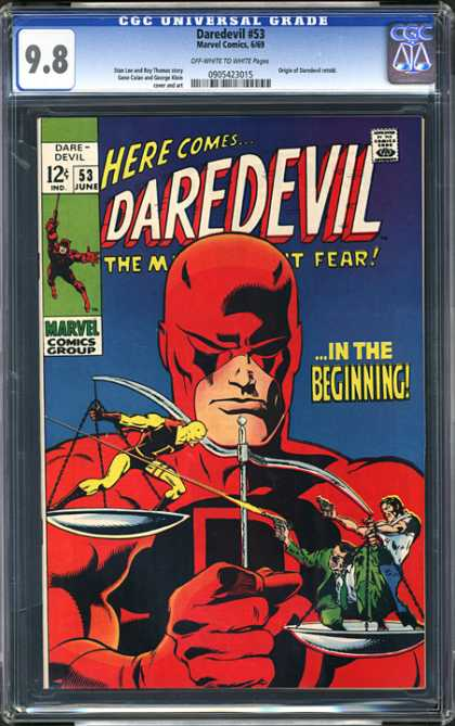CGC Graded Comics - Daredevil #53 (CGC) - In The Beginning - Marvel Comics Group - Daredevil - The Man Without Fear - June