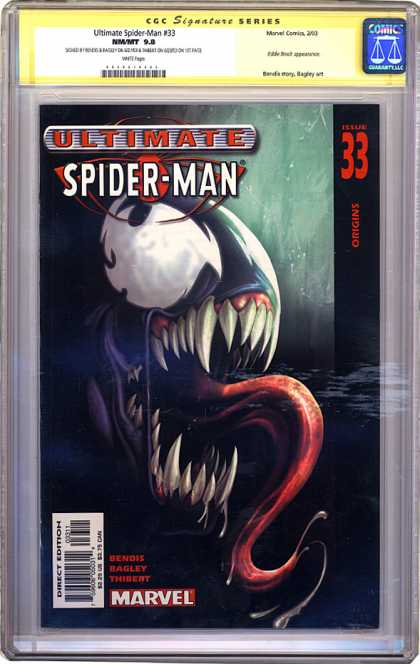 CGC Graded Comics - Ultimate Spider-Man #33 (CGC) - Venom - Ultimate Spider-man - Black Suit - Marvel - Long Tongue