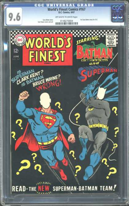 CGC Graded Comics - World's Finest Comics #167 (CGC)