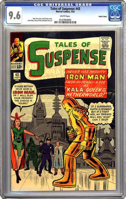 CGC Graded Comics - Tales of Suspense #43 (CGC) - Iron Man - Kala Queen Of The Underworld - Marvel - July - Tales Of Suspense