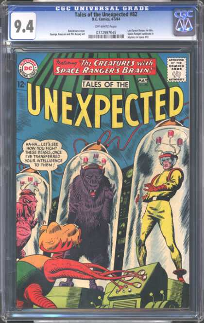 CGC Graded Comics - Tales of the Unexpected #82 (CGC) - Tales Of The Unezpected - The Creatures With Space Rangers Brain - Monster - Space Suit - Machine