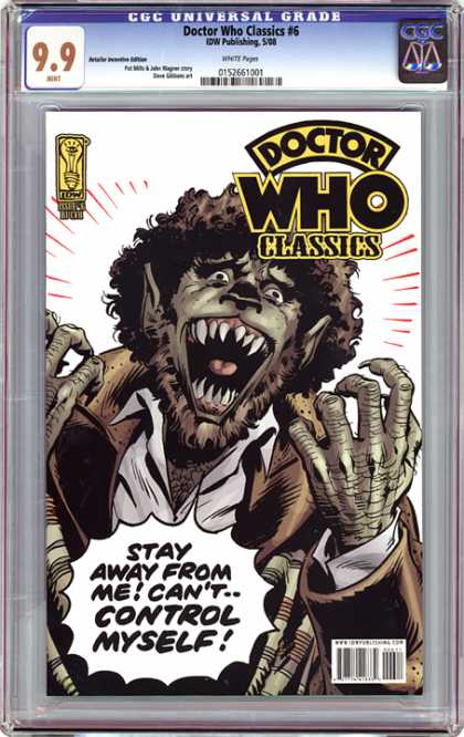 CGC Graded Comics - Doctor Who Classics #6 (CGC) - Doctor Who - Classics - Changing Shape - Wolf Man - Fangs