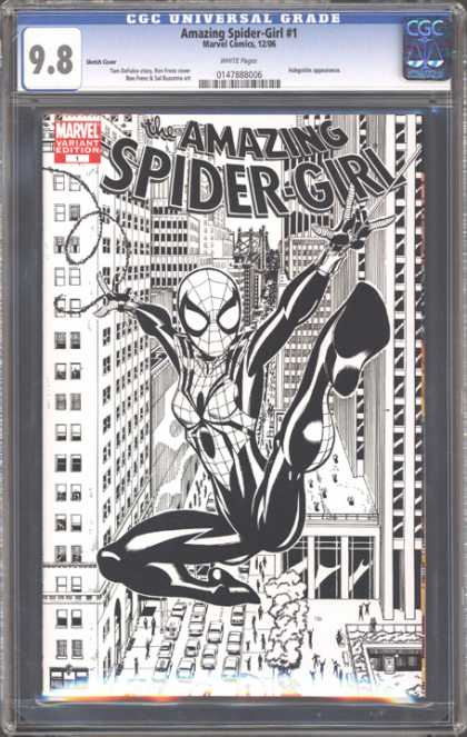 CGC Graded Comics - Amazing Spider-Girl #1 (CGC) - Spider Girl - Amazing - Web - Swinging - Tall Buildings