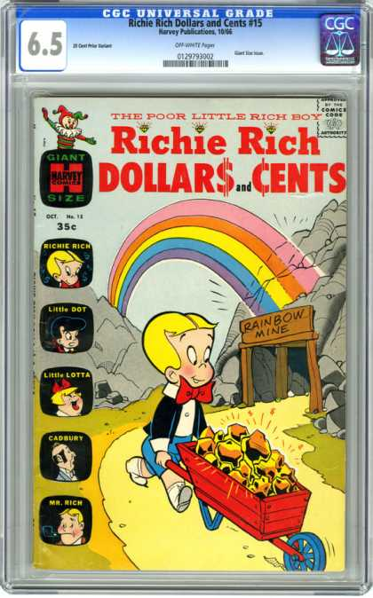 CGC Graded Comics - Richie Rich Dollars and Cents #15 (CGC)