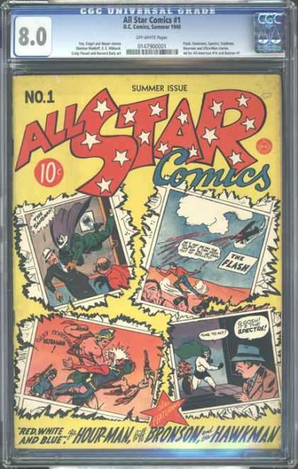 CGC Graded Comics - All Star Comics #1 (CGC) - Universal - All Star Comics - 1 - No 1 - Summer Issue