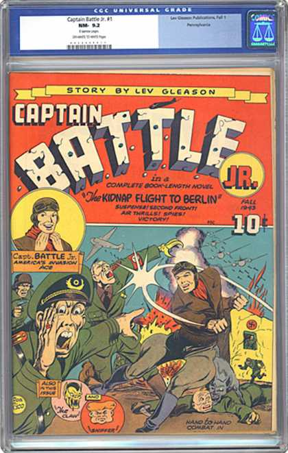 CGC Graded Comics - Captain Battle Jr. #1 (CGC) - Captain Battle - Plane - Soldier - Pilot - The Claw