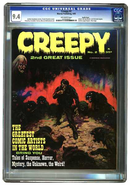 CGC Graded Comics - Creepy #2 (CGC) - Creepy - 2nd Great Issue - The Greatest Comic Artists In The World - Tales Of Suspense Horror - Mystery The Unknown The Weird