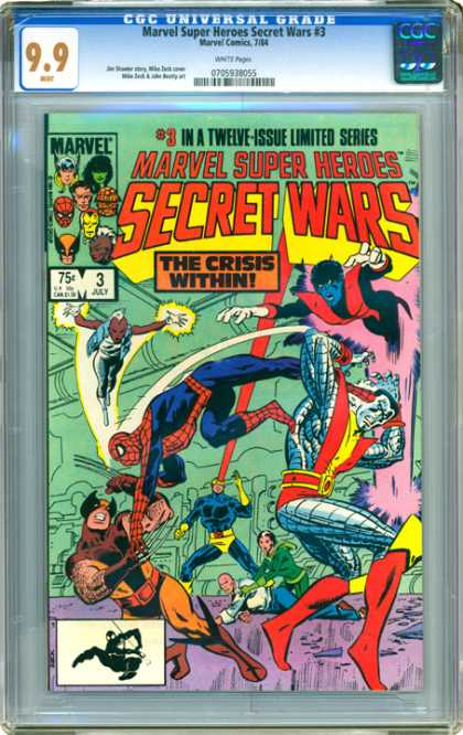 CGC Graded Comics - Marvel Super Heroes Secret Wars #3 (CGC)