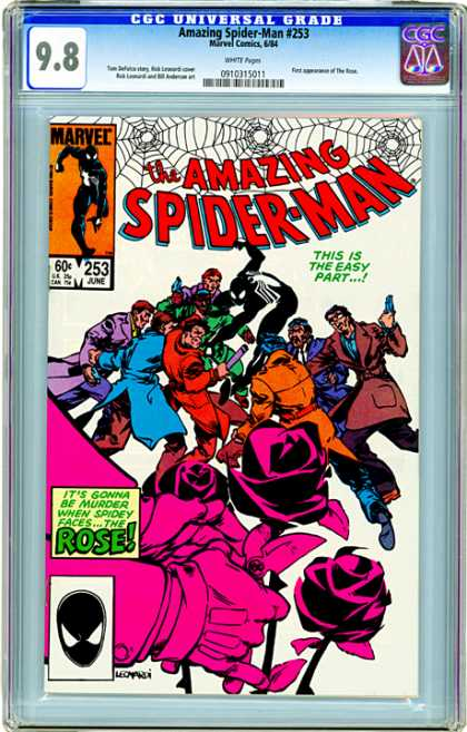 CGC Graded Comics - Amazing Spider-Man #253 (CGC) - June - Marvel - Guns - Gangsters - Spider-man