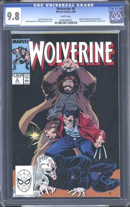 CGC Graded Comics - Wolverine #6 (CGC) - Wolverine - Fight Scene - Canadians - Trench Coat - Beards