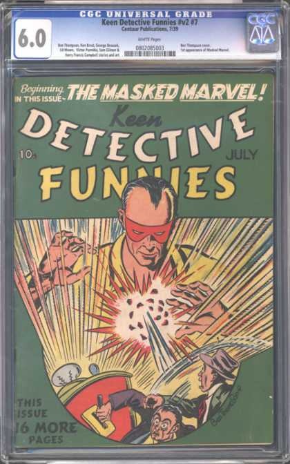 CGC Graded Comics - Keen Detective Funnies #v2 #7 (CGC) - Detective - Keen - Masked Marvel - Funnies - 16 More Pages