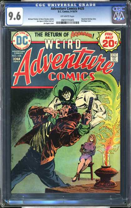CGC Graded Comics - Adventure Comics #435 (CGC) - Dc - Gun - Weapon - 20 Cents - Weird Adventure Comics