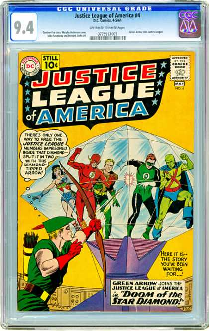 CGC Graded Comics - Justice League of America #4 (CGC)