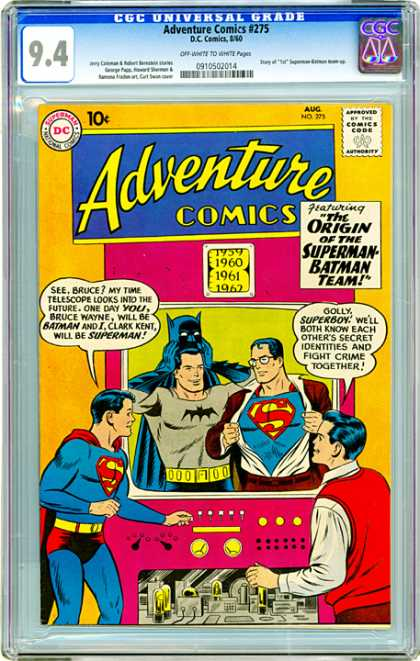 CGC Graded Comics - Adventure Comics #275 (CGC)