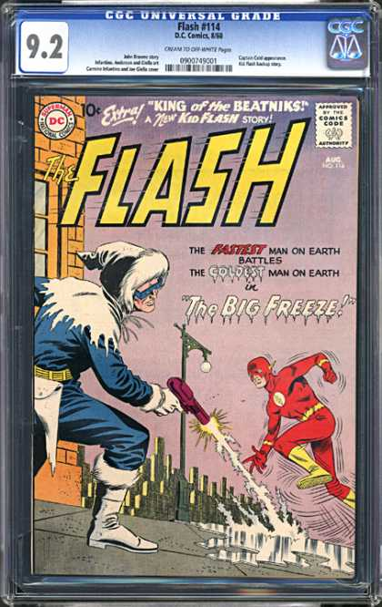 CGC Graded Comics - Flash #114 (CGC) - Window - Light Pole - Flash - Gun - Ice