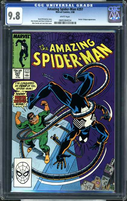 CGC Graded Comics - Amazing Spider-Man #297 (CGC) - Spiderman - Tentacles - Doctor Octopus - Webs - Skyscraper
