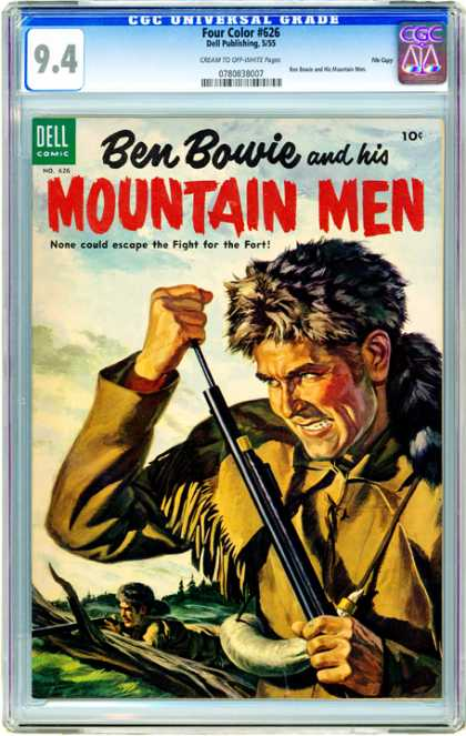 CGC Graded Comics - Four Color #626 (CGC) - Ben Bowie - Mountain Man - Dell Comic - Gun - Man Shoting With Rifle