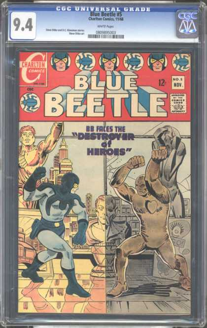 CGC Graded Comics - Blue Beetle #5 (CGC) - Destroyer - Charlton - Beetles - Sculpture - Muscle