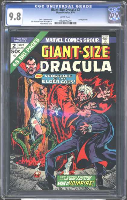CGC Graded Comics - Giant-Size Dracula #2 (CGC) - Vampire - Woman - Chains - Serpents - Vengeance Of The Elder Gods