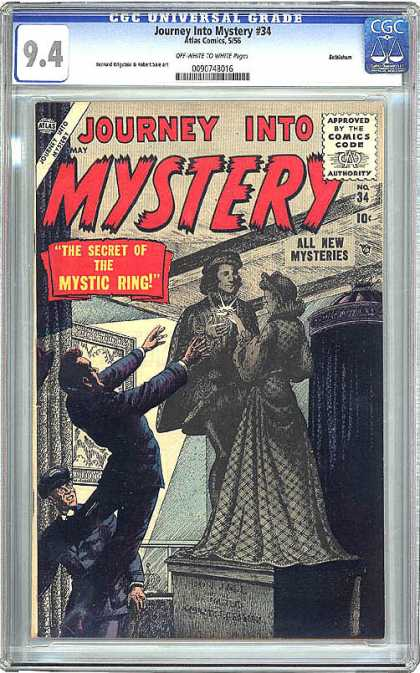 CGC Graded Comics - Journey Into Mystery #34 (CGC) - The Secret Of The Mystic Ring - Journey Into Mystery - May - 10 Cents - Statue