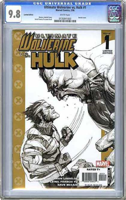 CGC Graded Comics - Ultimate Wolverine vs Hulk #1 (CGC) - Dave Mccaig - Faceoff - Damon Lindelof - Francis Yu - Claws
