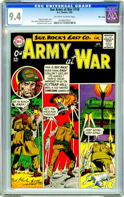CGC Graded Comics - Our Army at War #150 (CGC) - Army - Plane - Commando - Injured - Message
