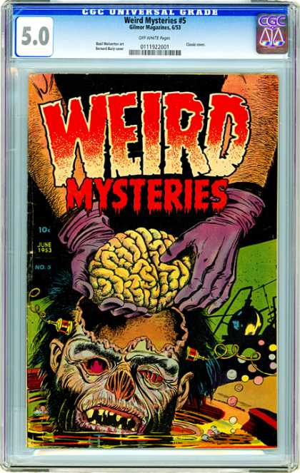 CGC Graded Comics - Weird Mysteries #5 (CGC) - Monster - Hand - Green - Cover - Letters