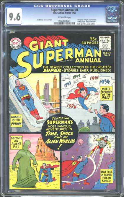 CGC Graded Comics - Superman Annual #4 (CGC) - Dc - 25c - 80 Pages - Supermans - Alien Worlds