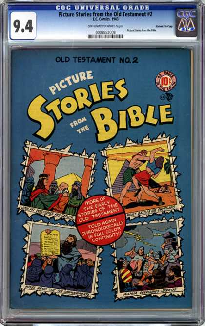 CGC Graded Comics - Picture Stories from the Old Testament #2 (CGC) - Picture Stories - The Old Testament - Stories Bible - People - Battle
