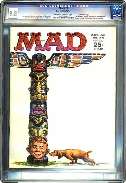 CGC Graded Comics - Mad #74 (CGC) - Mad - Eccomics - Dog - Oct62 No74 - Cheap
