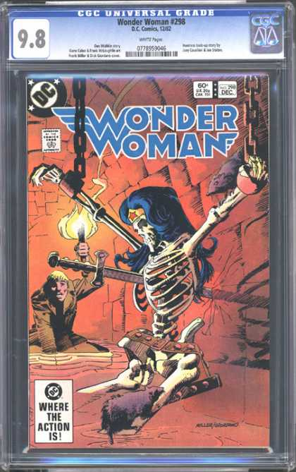 CGC Graded Comics - Wonder Woman #298 (CGC) - Wounder Woman - Dc Comics - Where The Action Is - Approved By The Comics Code Authority - Sword