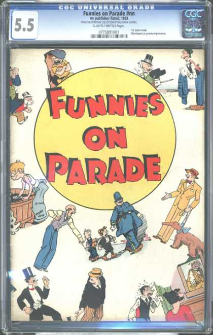 CGC Graded Comics - Funnies on Parade #nn (CGC) - Anteater - Men - Kids - Cop - Tub