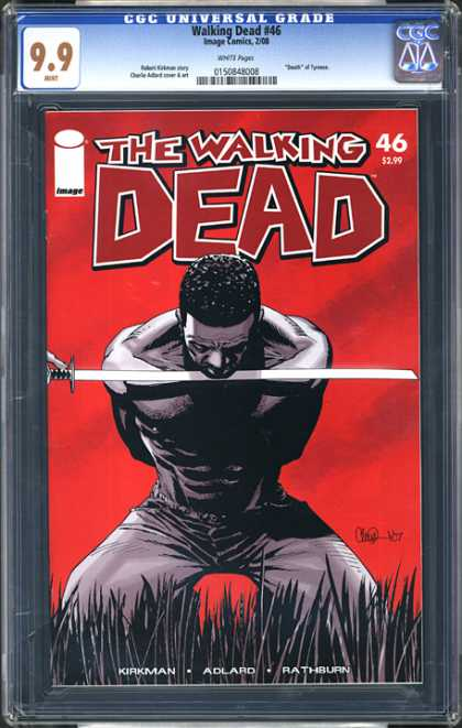 CGC Graded Comics - Walking Dead #46 (CGC) - Sword - Beheading - Field - Murder - Execution