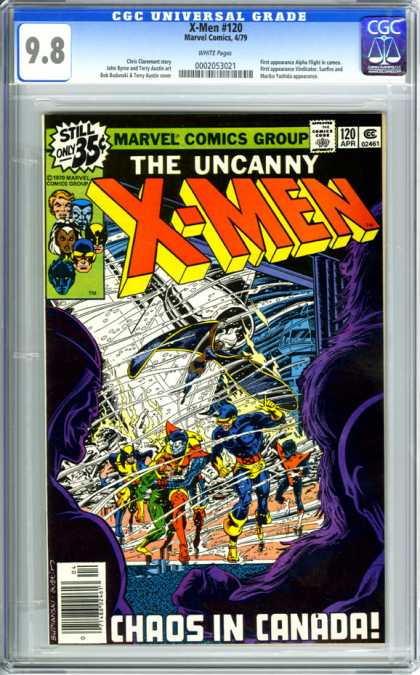 CGC Graded Comics - X-Men #120 (CGC) - The Uncanny X-men - Chaos - Canada - Red - Yellow