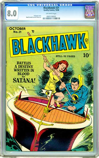 CGC Graded Comics - Blackhawk #21 (CGC)