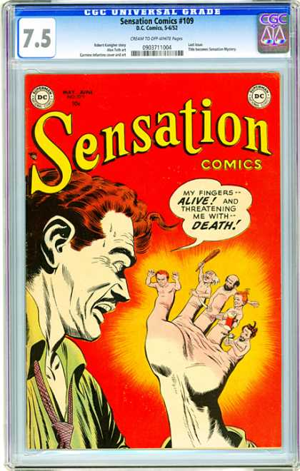 CGC Graded Comics - Sensation Comics #109 (CGC) - Sensation - 109 - Alive - Death - Threatening