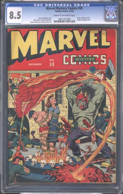 CGC Graded Comics - Marvel Mystery Comics #50 (CGC) - Marvel - Troll - December - Rescue - Fire