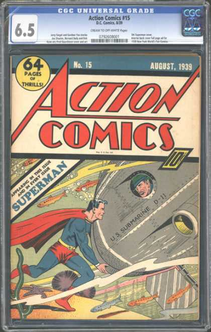 CGC Graded Comics - Action Comics #15 (CGC)
