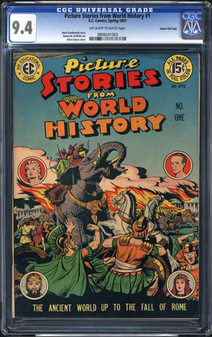 CGC Graded Comics - Picture Stories From World History #1 (CGC) - Ancient World - Rome - Elephant - Centurion - Fire