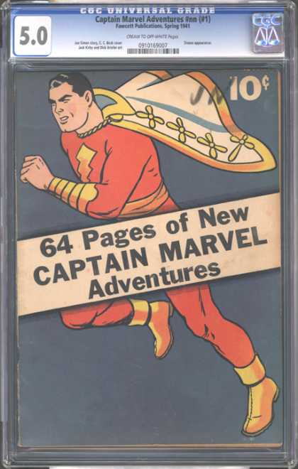 CGC Graded Comics - Captain Marvel Adventures #nn (#1) (CGC)