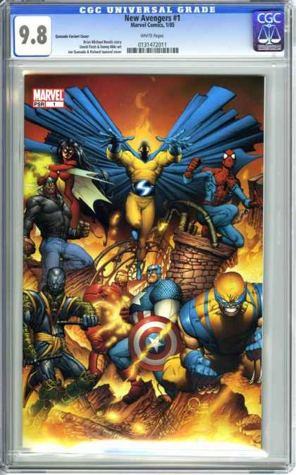 CGC Graded Comics - New Avengers #1 (CGC) - Marvel Comics 105 - Captain America - Spiderman - Wolverine - Iron Man
