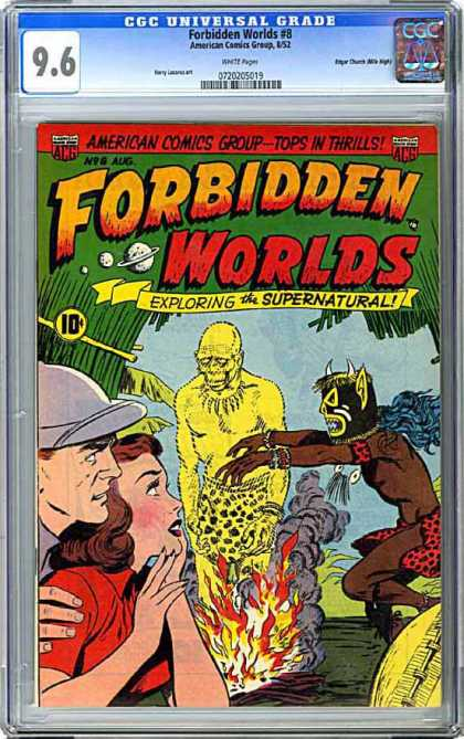 CGC Graded Comics - Forbidden Worlds #8 (CGC) - Exploring The Supernatural - Monsters - Jungle - Burning - Voodoo
